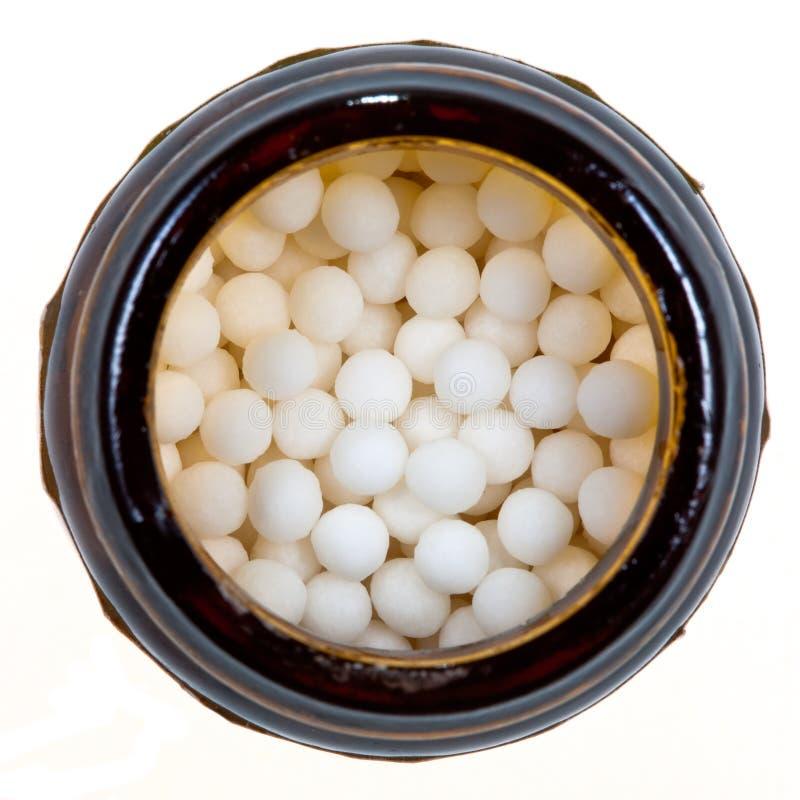 balowa homeopatii cukieru buteleczka zdjęcia royalty free
