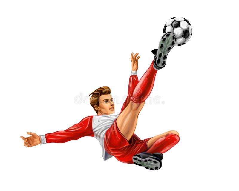 balowa ilustracja kopie gracza piłki nożnej wektor ilustracja wektor