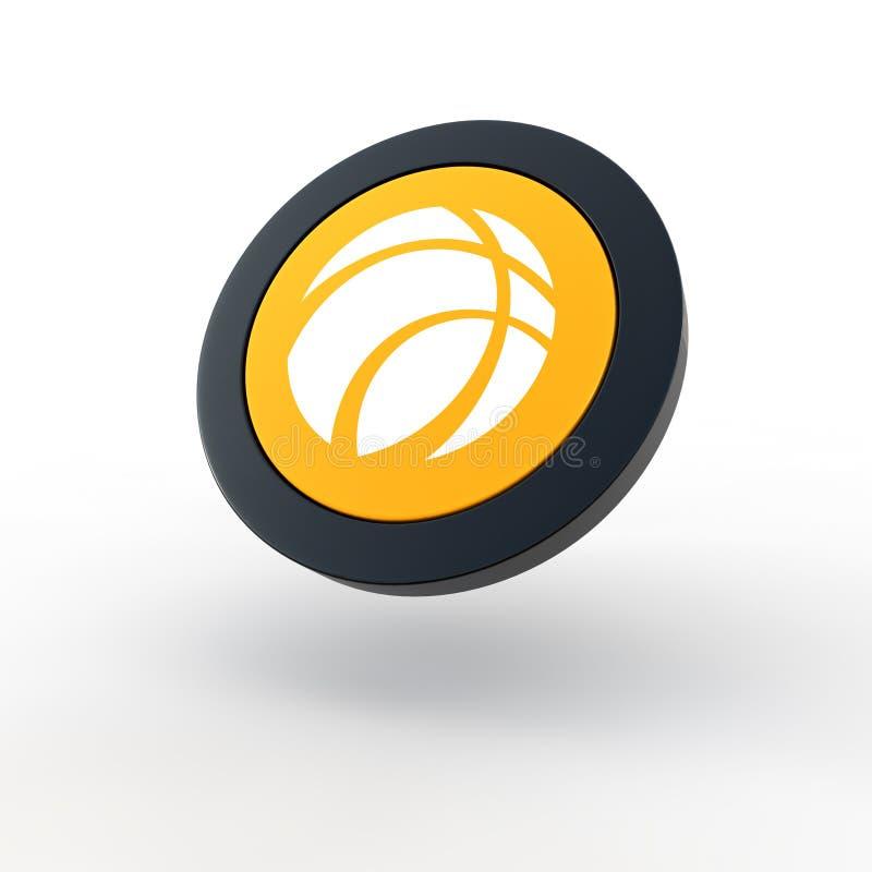 balowa koszykowa ikona ilustracja wektor