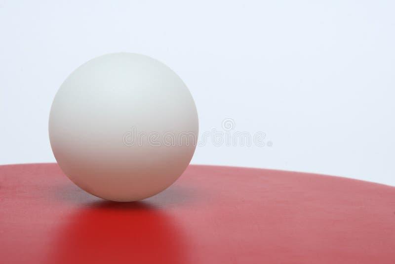 balowa padd śwista pong czerwieni strony pozycja obraz stock