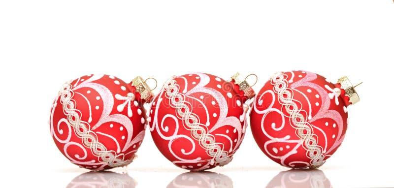 balowa piękna bożych narodzeń dekoraci czerwień zdjęcia royalty free