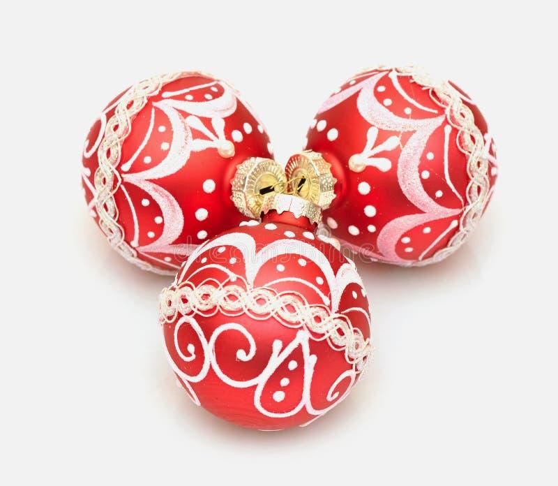 balowa piękna bożych narodzeń dekoraci czerwień zdjęcie royalty free