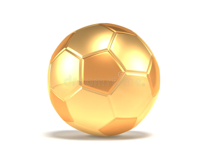 balowa złocista piłka nożna royalty ilustracja