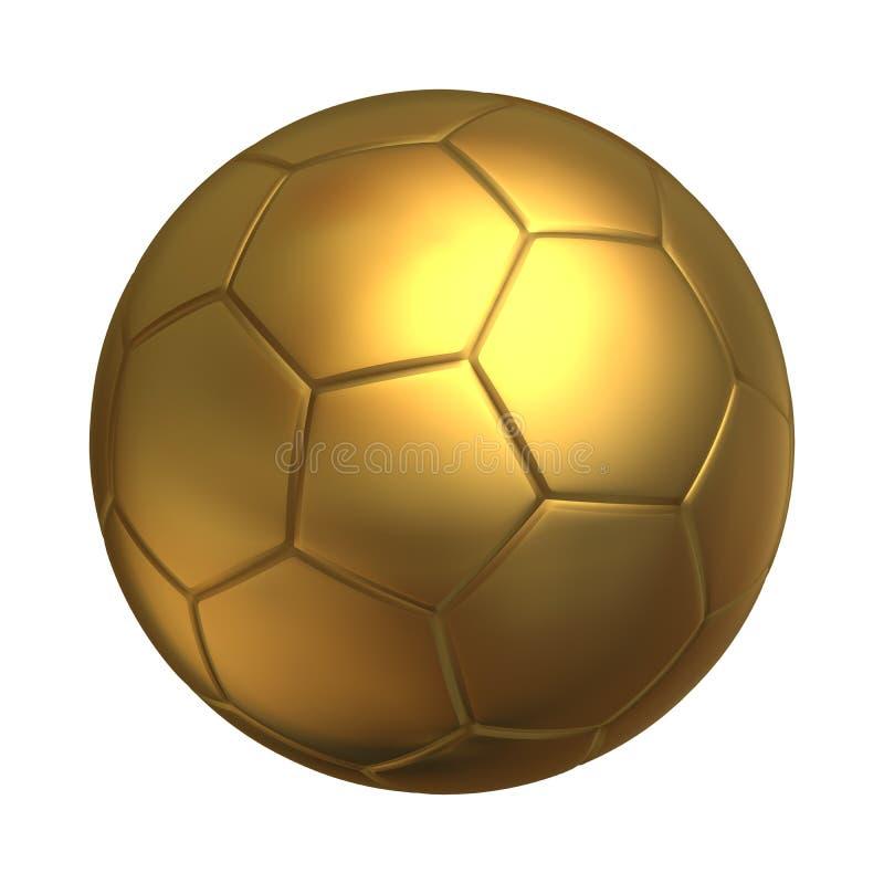 Balowa złota piłka nożna ilustracji. Ilustracja złożonej z tło - 14817038