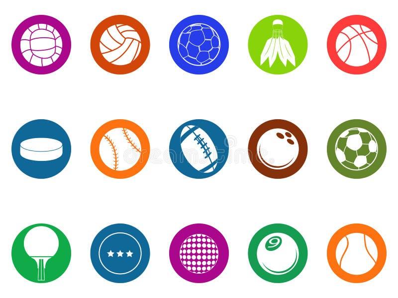 Balowe guzik ikony ustawiać royalty ilustracja