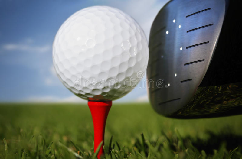 balowego klubu golfa trawa obrazy stock