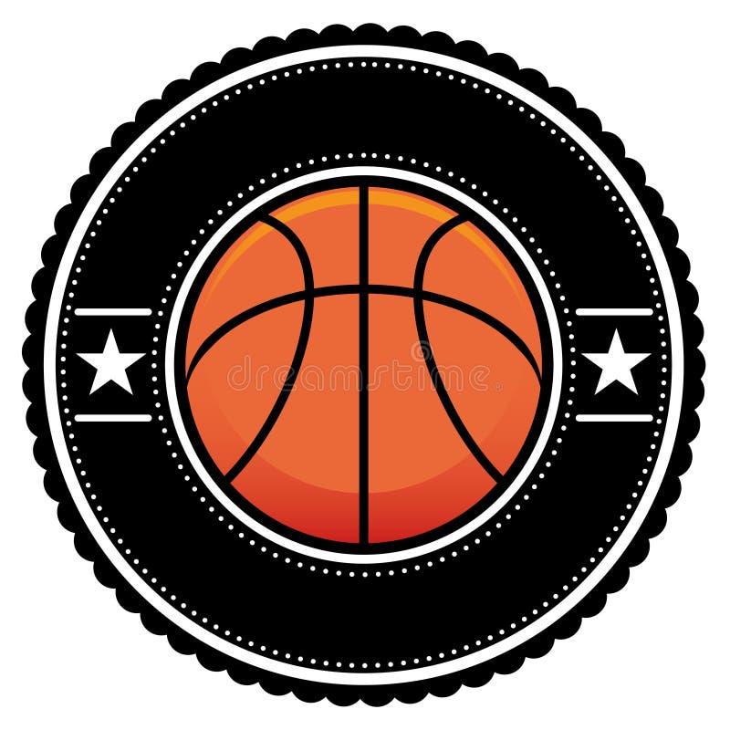 balowego koszykowego loga retro styl ilustracja wektor