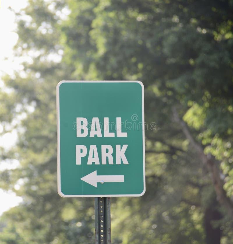 Balowego parka, futbolu, softballa, piłki nożnej lub baseballa sportów pole, obrazy royalty free