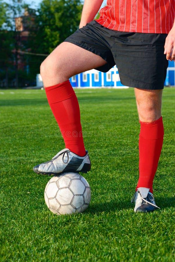balowego pola futbolowy mężczyzna zdjęcia stock