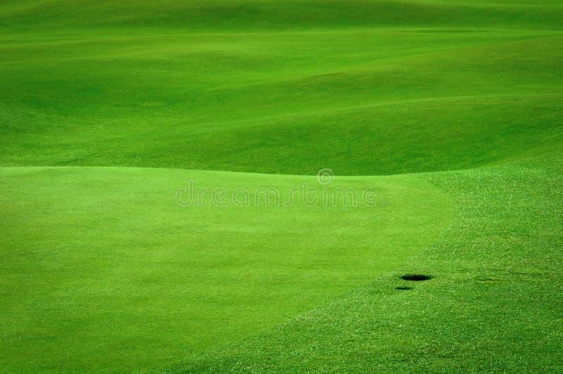 balowego pola golfa dziura obraz stock