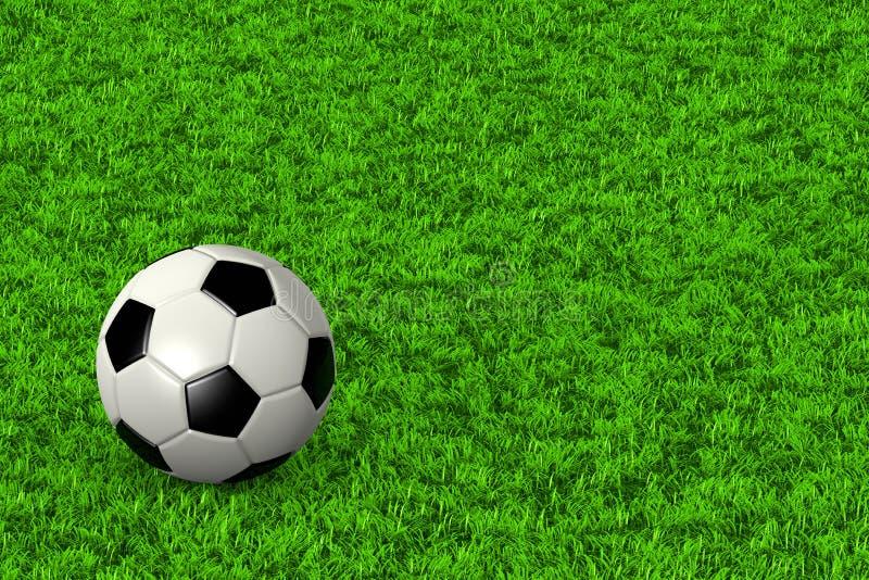 balowego pola trawy piłka nożna royalty ilustracja