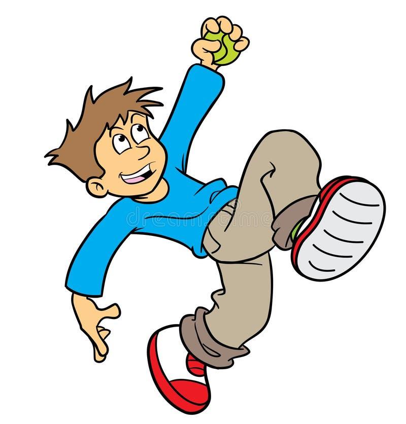 balowej chłopiec łapanie ilustracji