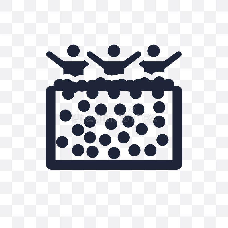 Balowej jamy przejrzysta ikona Balowy jama symbolu projekt od aktywności ilustracji