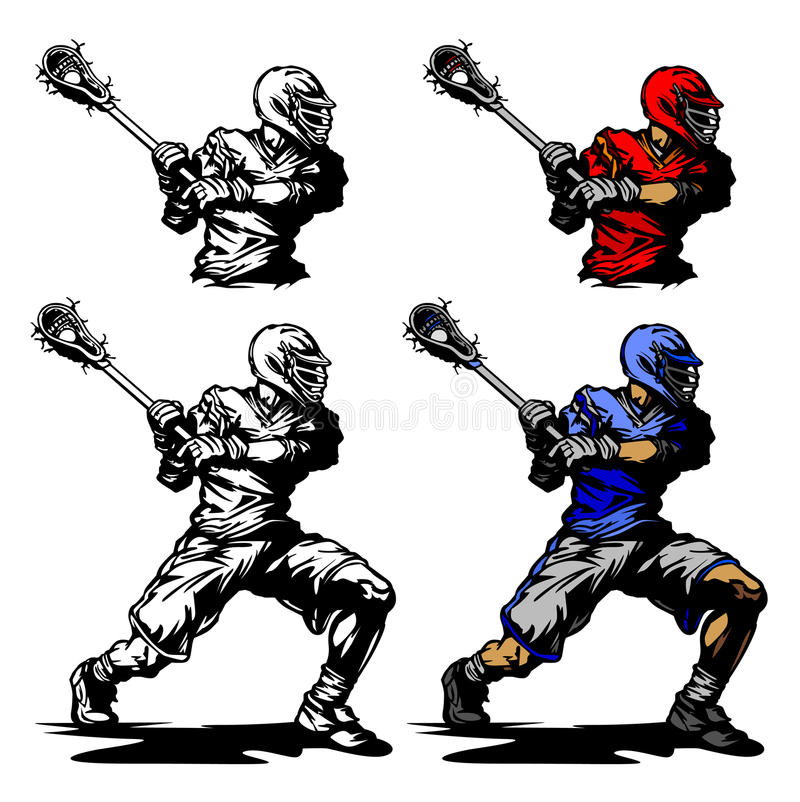 balowej krążyny ilustracyjny lacrosse gracz ilustracji