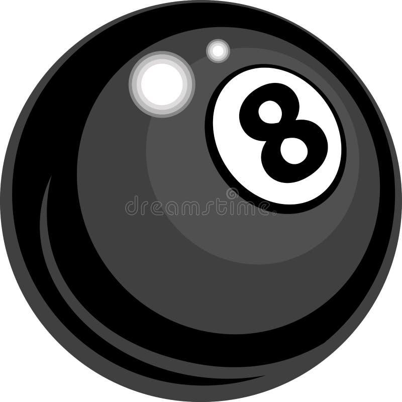 balowi billiards projektują osiem ilustracja wektor