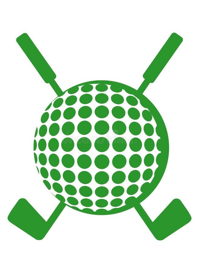 balowi kluby krzyżujący golf ilustracji