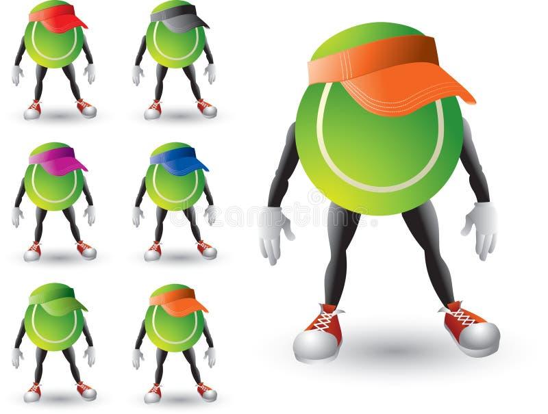 balowi postać z kreskówki tenisa naliczki ilustracja wektor