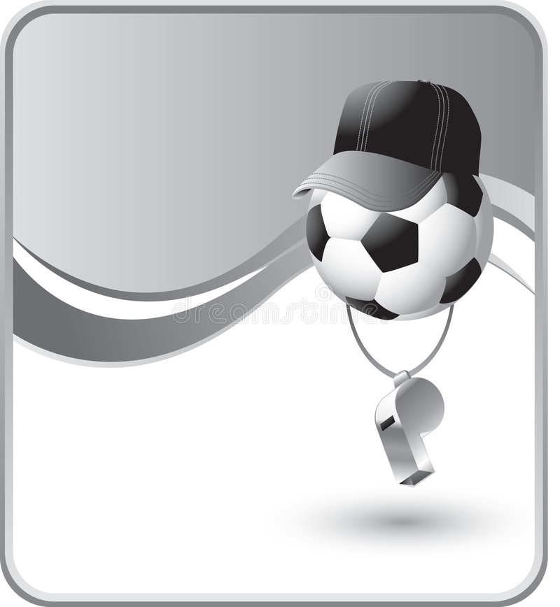 balowy arbitra piłki nożnej gwizd royalty ilustracja