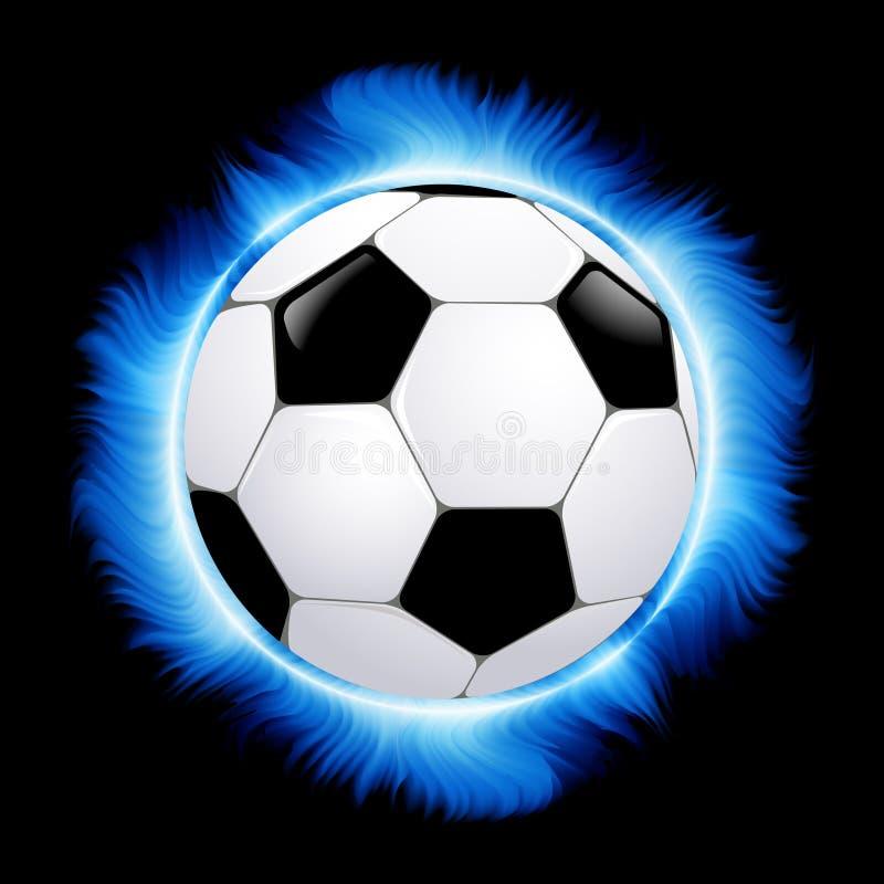 balowy błękitny palenia ogienia futbol ilustracja wektor