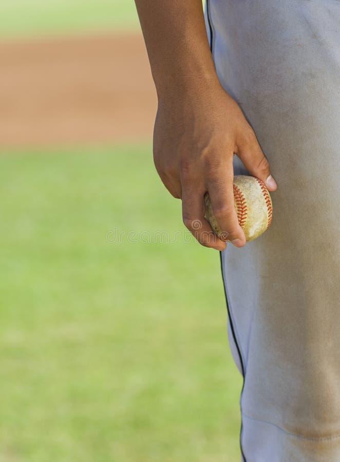 balowy baseballa mienia miotacz zdjęcie royalty free