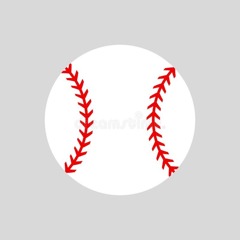 balowy baseballa strzału studio softball atrakcyjna pudełkowata sylwetki obsiadania wektoru kobieta Wektorowa ikona odizolowywają ilustracja wektor