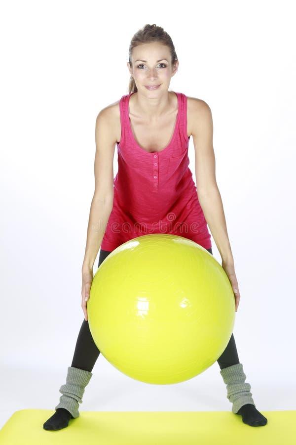 balowy blond sprawności fizycznej dziewczyny sport obrazy stock