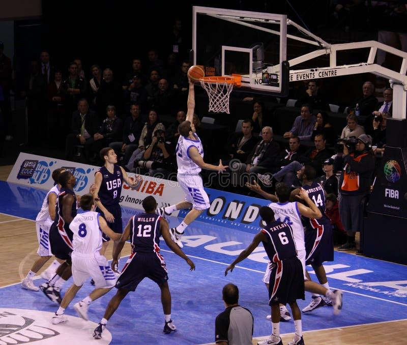 balowy koszykówki layup gracz obrazy stock