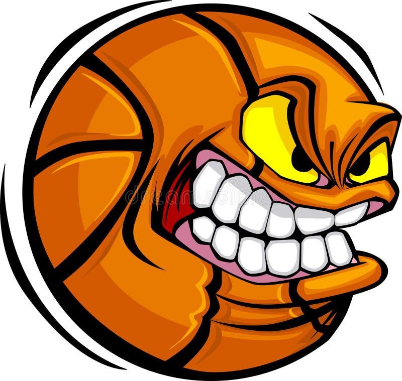 balowy koszykówki twarzy wizerunku wektor royalty ilustracja