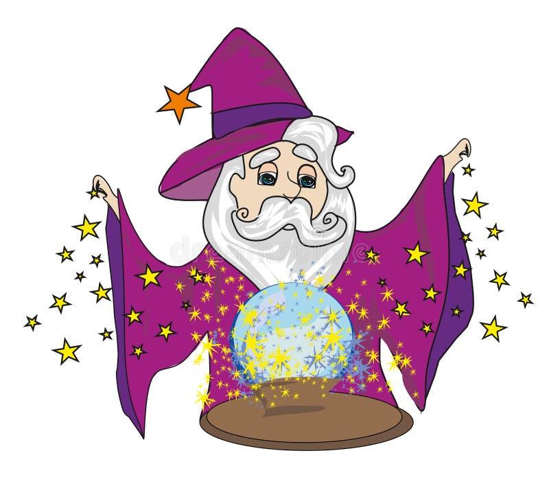 balowy magiczny czarownik royalty ilustracja