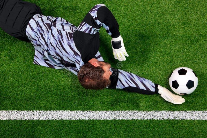 balowy nurkowy bramkarz save zdjęcia stock