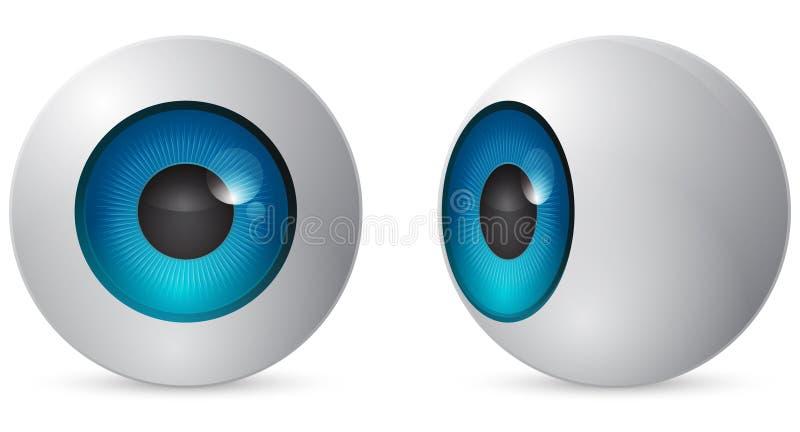 balowy oko ilustracja wektor
