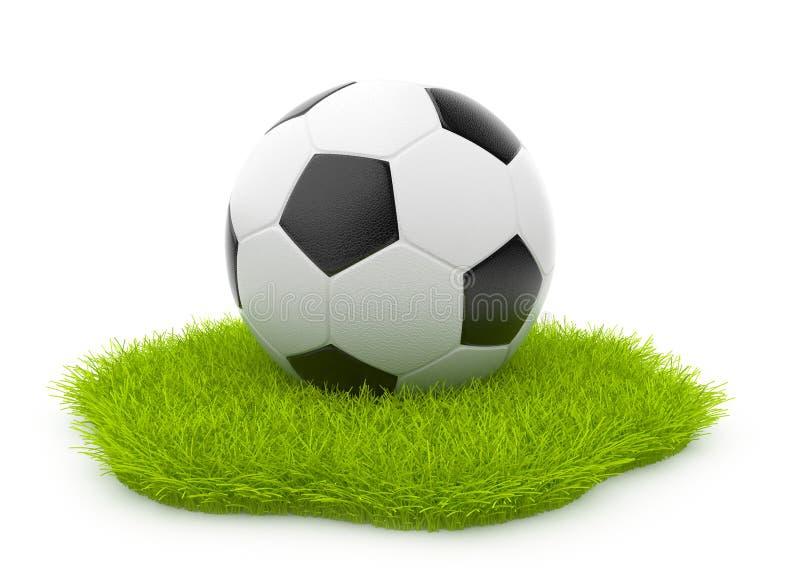 balowy pojęcia trawy zieleni piłki nożnej sport ilustracji