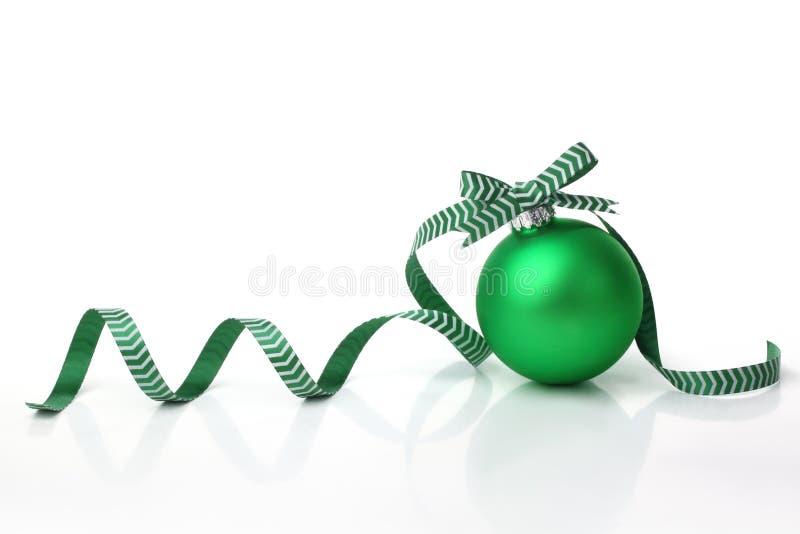 balowych łęku bożych narodzeń zielony faborek fotografia stock