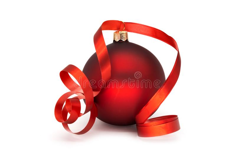 balowych bożych narodzeń czerwony biel fotografia royalty free