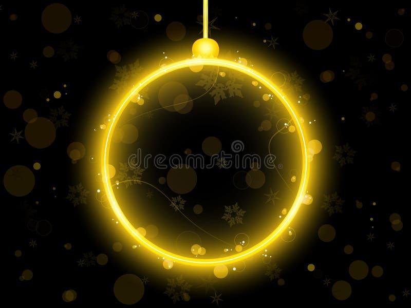 balowych bożych narodzeń złoty neon royalty ilustracja