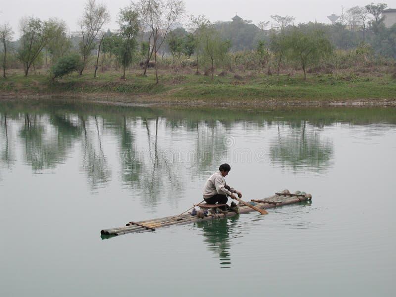 Download Balsa de bambú imagen de archivo. Imagen de pescados, china - 180155