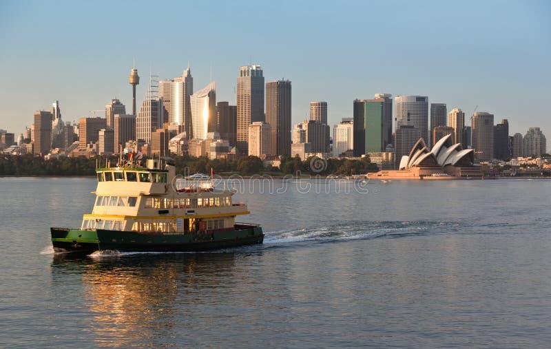 Balsa do porto de Sydney fotografia de stock