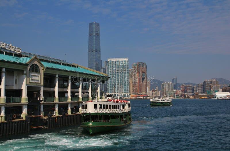 Balsa velha em Hong Kong imagens de stock royalty free