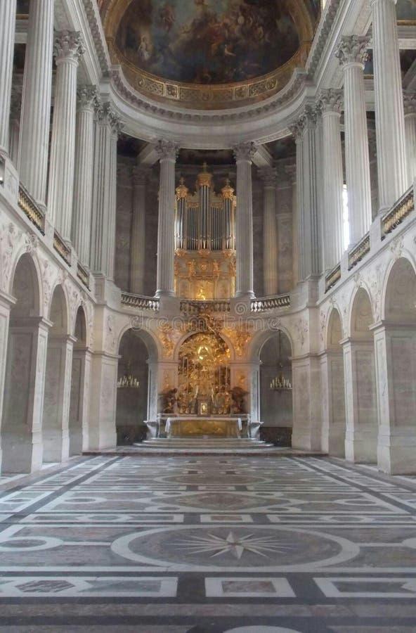 Balsal i den Versaille slotten Paris Frankrike arkivbilder