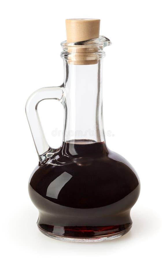 Balsamic vinäger som isoleras på vit royaltyfria foton