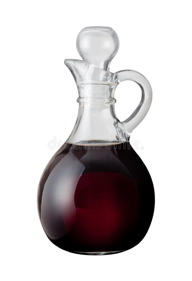 Balsamic Vinegar (with clipping path). Solated on a white background. Isolation is on a transparent layer in the PNG format stock photography