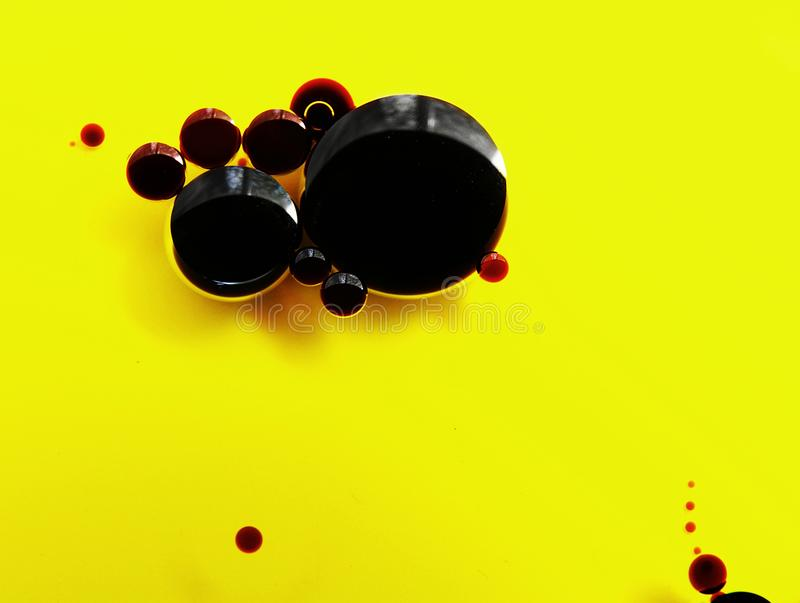 Balsamic vinegar and olive oil macro stock photography