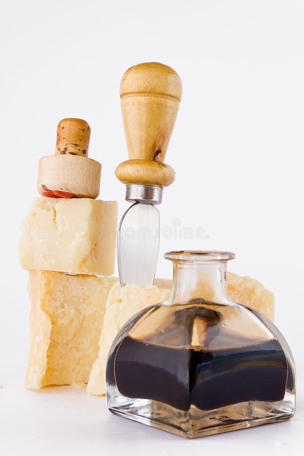 Balsamico e parmigiano immagini stock libere da diritti