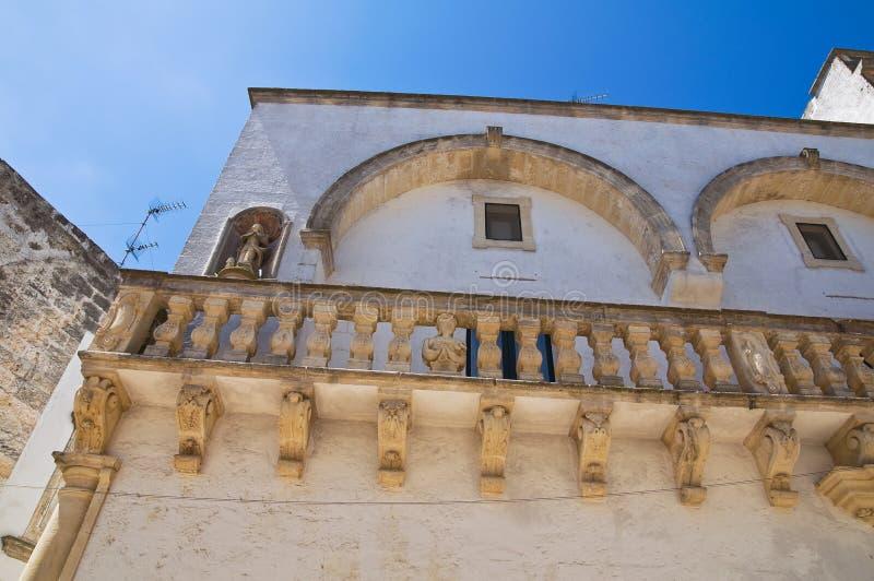 Balsamo-Palast. Specchia. Puglia. Italien. lizenzfreie stockbilder