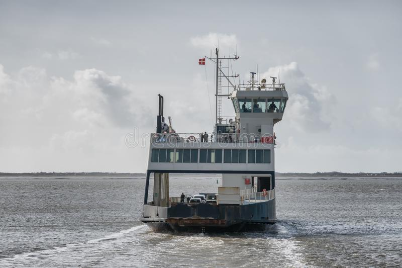 Balsee de Esbjerg a Fano en el mar de wadden imagen de archivo libre de regalías