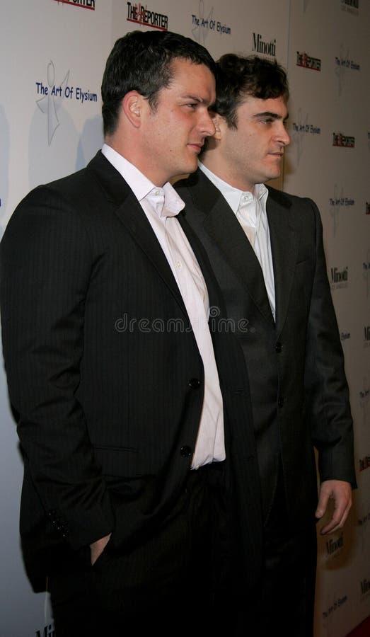 Balthazar Getty и Joaquin Феникс стоковая фотография