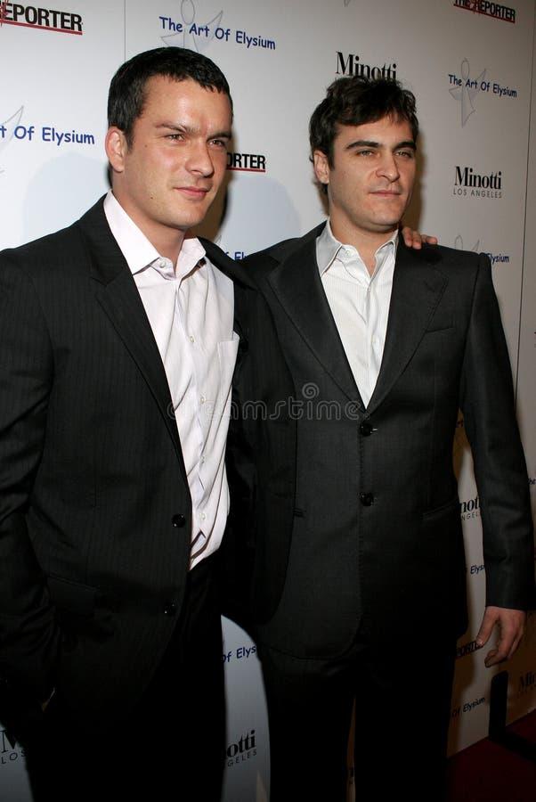 Balthazar Getty e Joaquin Phoenix fotos de stock royalty free