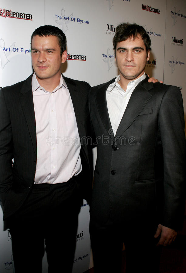 Balthazar Getty e Joaquin Phoenix imagem de stock royalty free