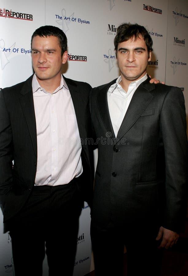 Balthazar Getty et Joaquin Phoenix image libre de droits