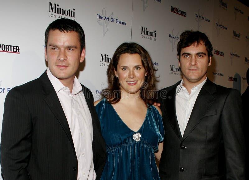 Balthazar Getty, Jennifer Howell och Joaquin Phoenix royaltyfri bild